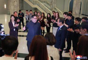 Kim Jong Un asiste a concierto de músicos surcoreanos