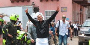 Will Smith la está pasando muy bien en Cartagena, Colombia
