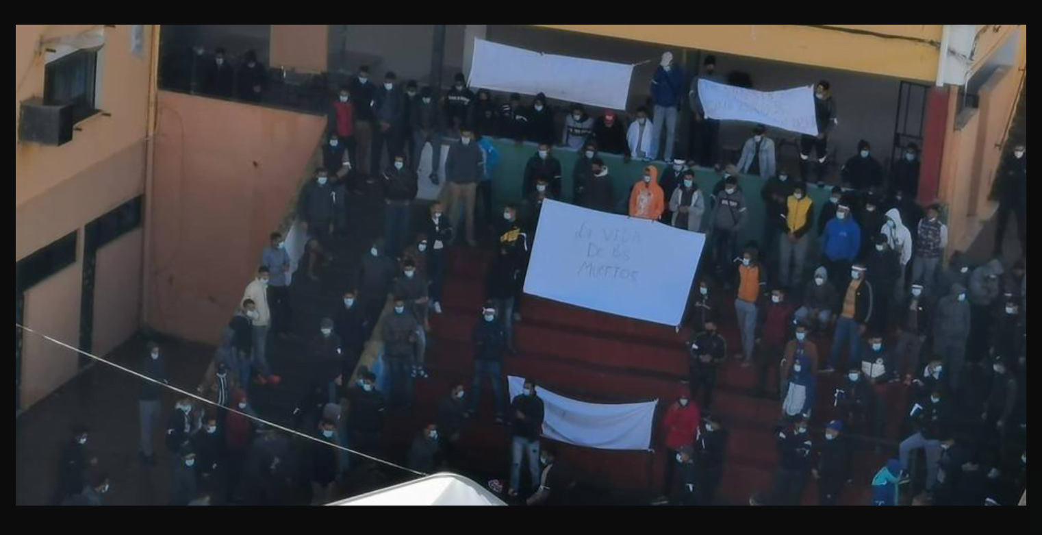 Inmigrantes protestan en Las Palmas