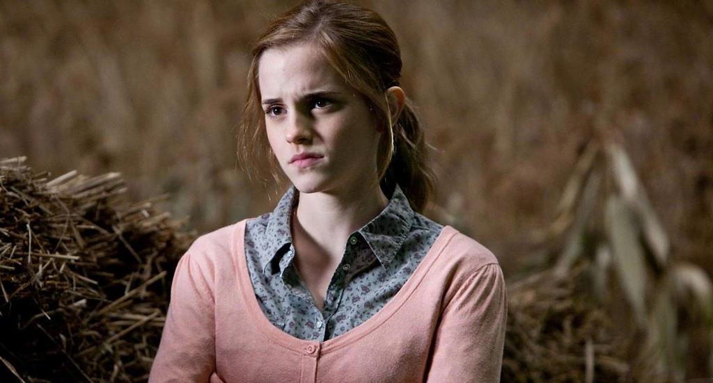 Emma Watson interpretando a Hermione en la saga Harry Potter