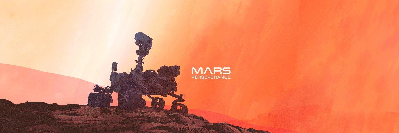 Cartel promocional de la misión Mars 2020