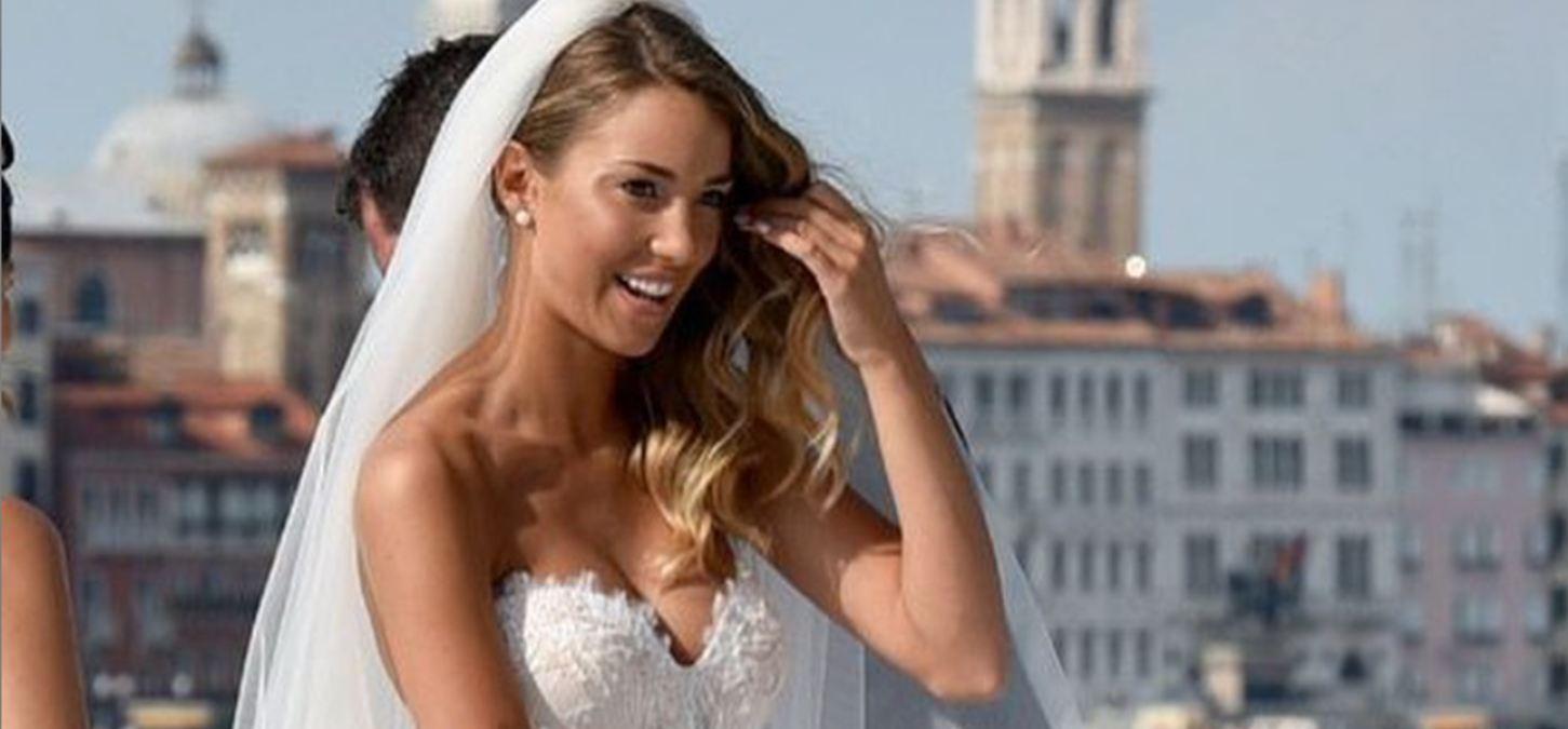 La modelo Alice Campello el día de su boda en Venecia con Alvaro Morata