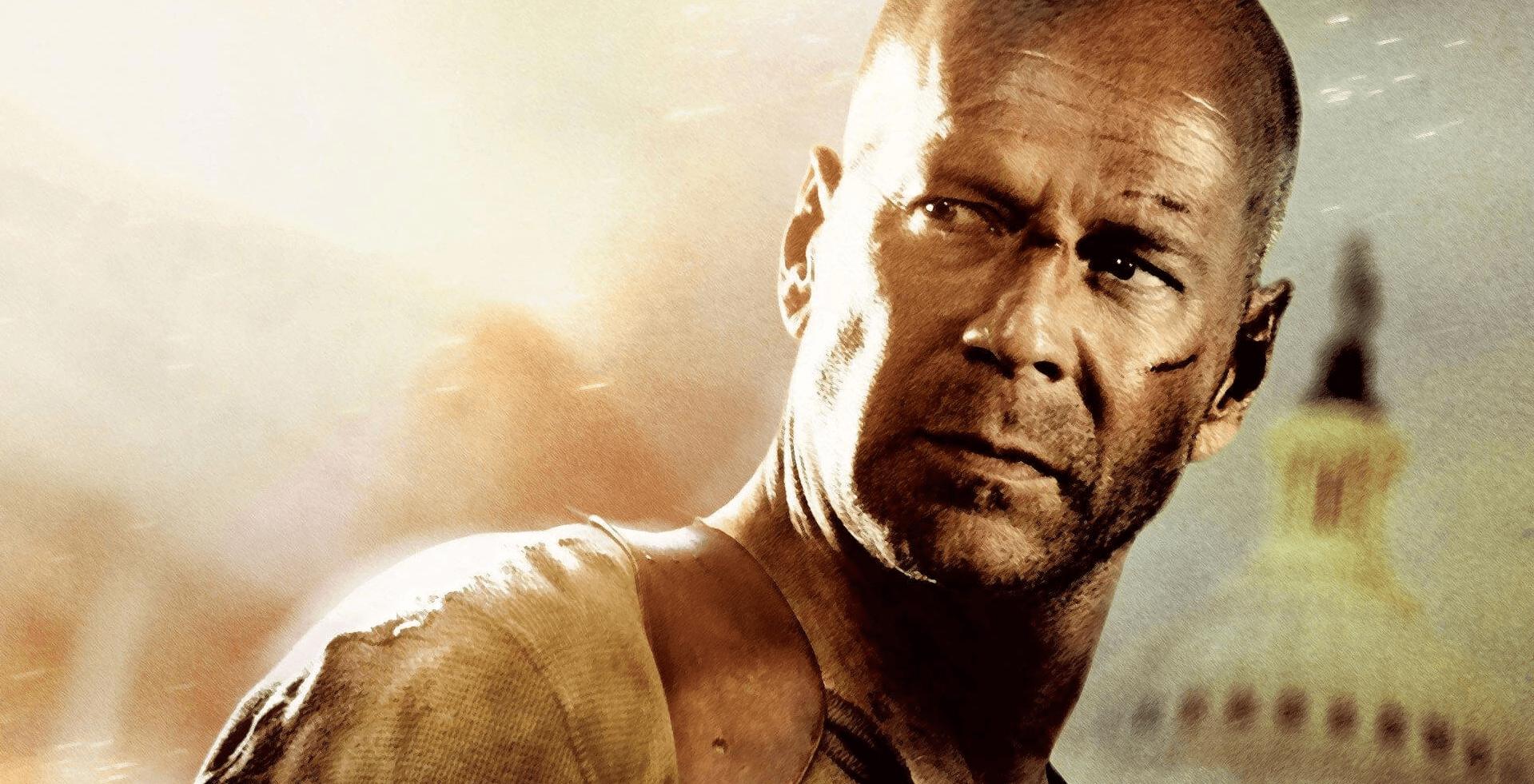 Bruce Willis en el cartel de la película 'La Jungla 4.0'