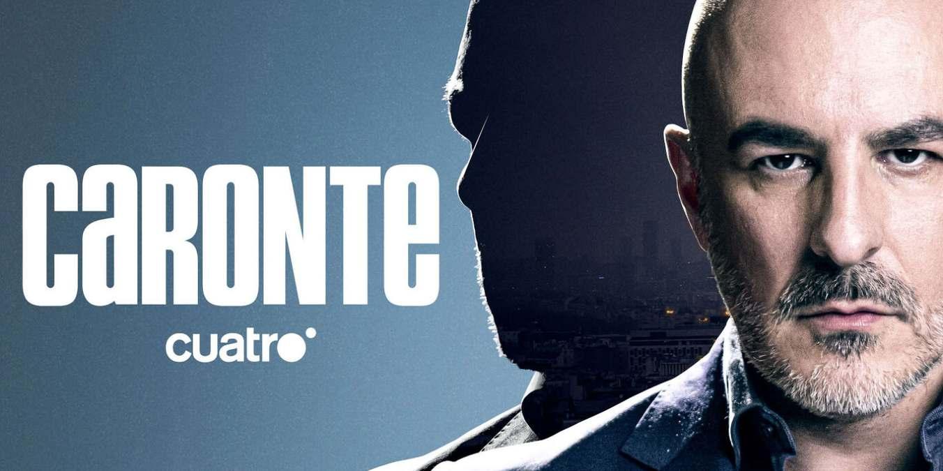Roberto Álamo en el cartel promocional de la serie Caronte