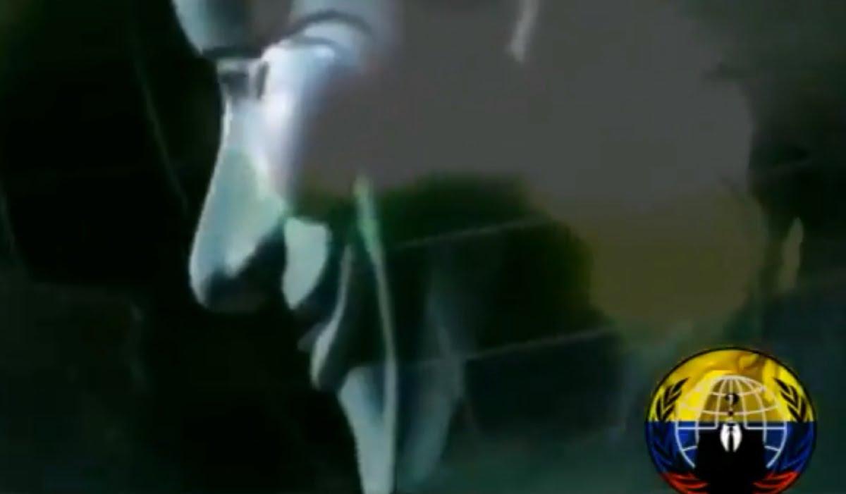 Imagen del video publicado por Anonymous
