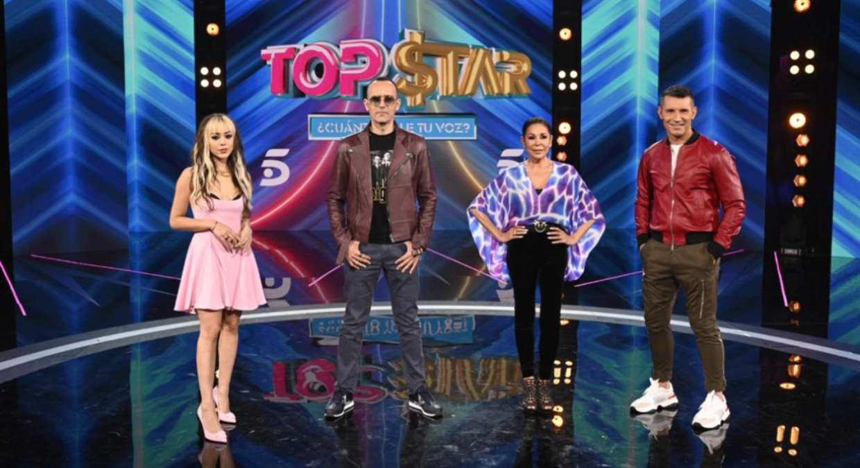 Jesús Vázquez y los mentores del concurso Top Star