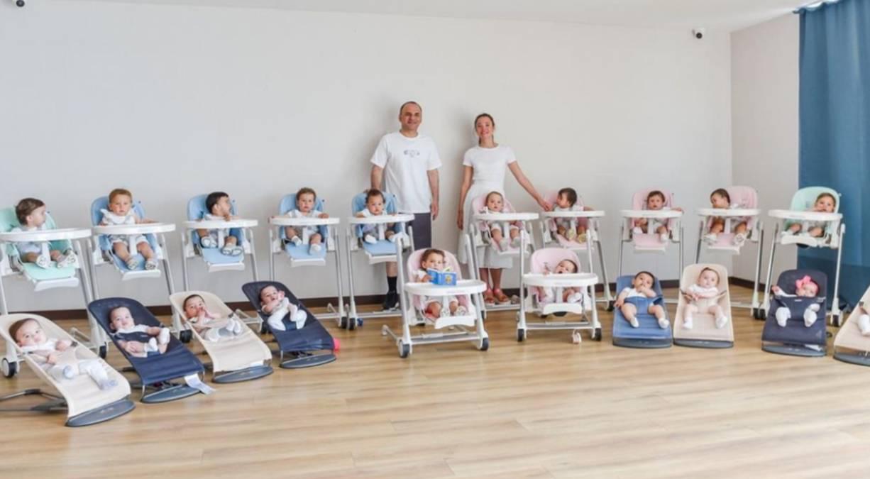 Pareja tiene 20 bebés en un año