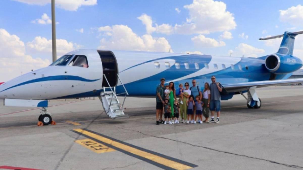 Avión privado de Sergio Ramos
