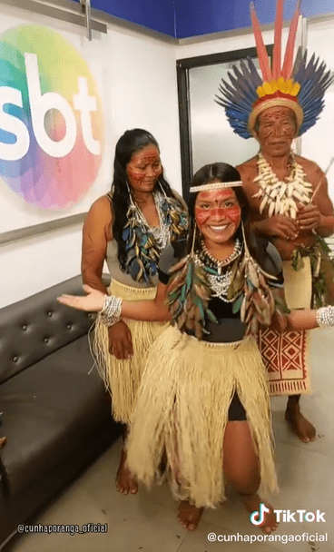 Tiktoker indigena Cunhaporanga